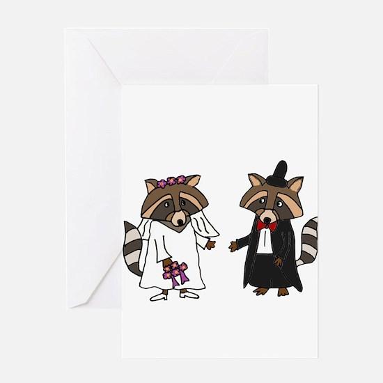Raccoon Wedding Greeting Cards