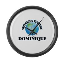 World's Sexiest Dominique Large Wall Clock