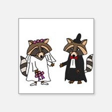 Raccoon Wedding Sticker