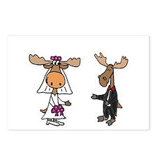 Moose Wedding Postcards (Package of 8)