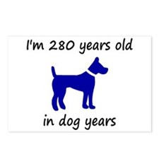 40 dog years blue dog 1C Postcards (Package of 8)