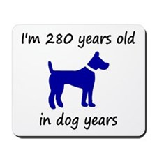 40 dog years blue dog 1C Mousepad