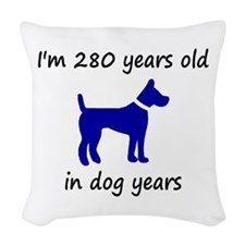 40 dog years blue dog 1C Woven Throw Pillow