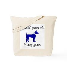 40 dog years blue dog 1C Tote Bag
