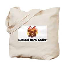 BBQ Fire: Natural Born Grille Tote Bag