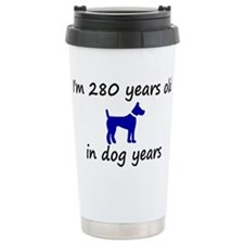 40 dog years blue dog 2 Travel Mug