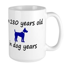 40 dog years blue dog 2 Mugs