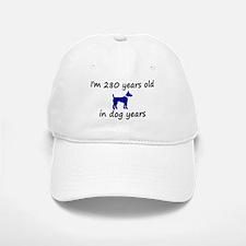 40 dog years blue dog 2 Baseball Baseball Baseball Cap