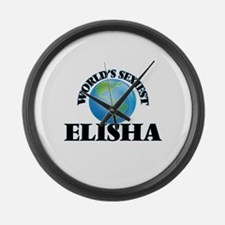 World's Sexiest Elisha Large Wall Clock