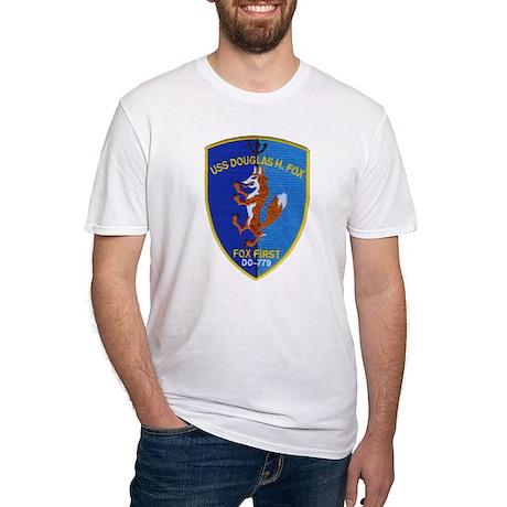 USS DOUGLAS H. FOX Fitted T-Shirt