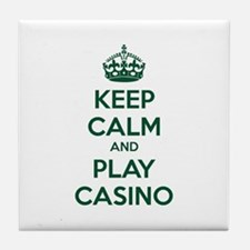 Keep Calm And Play Casino Tile Coaster