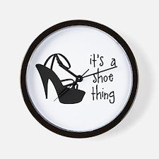 Shoe Thing Wall Clock