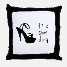 Shoe Thing Throw Pillow