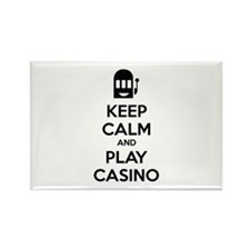 Keep Calm And Play Casino Rectangle Magnet