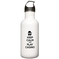 Keep Calm And Play Casino Water Bottle