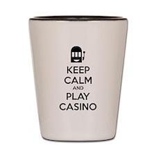 Keep Calm And Play Casino Shot Glass
