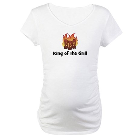 BBQ Fire: King of the Grill Maternity T-Shirt