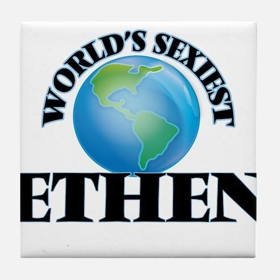 World's Sexiest Ethen Tile Coaster