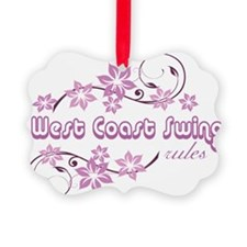 West Coast Swing Rules Ornament