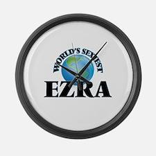World's Sexiest Ezra Large Wall Clock