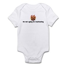 BBQ Fire: Im not aging im mar Infant Bodysuit