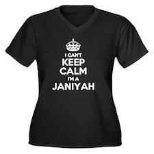 Funny Janiyah Women's Plus Size V-Neck Dark T-Shirt