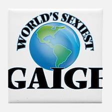 World's Sexiest Gaige Tile Coaster