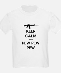 Keep Calm and Pew Pew Pew AR15 T-Shirt