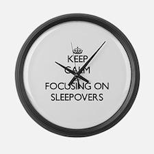 Keep Calm by focusing on Sleepove Large Wall Clock