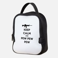 Keep Calm and Pew Pew Pew AR15 Neoprene Lunch Bag
