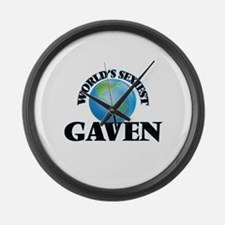 World's Sexiest Gaven Large Wall Clock