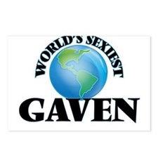 World's Sexiest Gaven Postcards (Package of 8)
