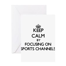 Keep Calm by focusing on Sports Cha Greeting Cards