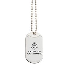Keep Calm by focusing on Sports Channels Dog Tags