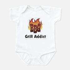 BBQ Fire: Grill Addict Infant Bodysuit