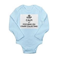 Keep Calm by focusing on Stamp Collectin Body Suit