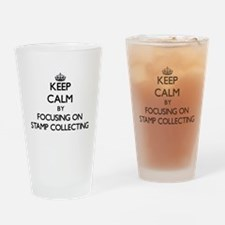 Keep Calm by focusing on Stamp Coll Drinking Glass