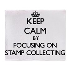 Keep Calm by focusing on Stamp Colle Throw Blanket