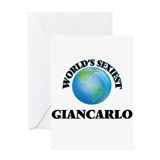 World's Sexiest Giancarlo Greeting Cards