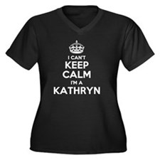 Funny Kathryn Women's Plus Size V-Neck Dark T-Shirt