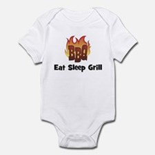 BBQ Fire: Eat Sleep Grill Infant Bodysuit