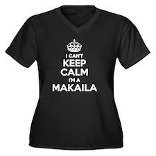 Cool Makaila Women's Plus Size V-Neck Dark T-Shirt