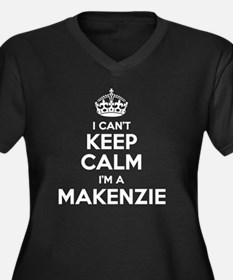 Unique Makenzie Women's Plus Size V-Neck Dark T-Shirt