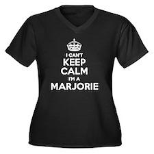 Marjorie Women's Plus Size V-Neck Dark T-Shirt