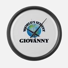 World's Sexiest Giovanny Large Wall Clock