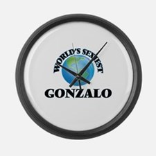 World's Sexiest Gonzalo Large Wall Clock