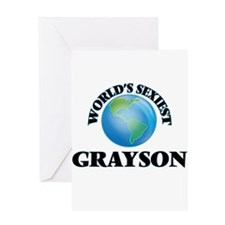World's Sexiest Grayson Greeting Cards