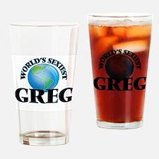 World's Sexiest Greg Drinking Glass