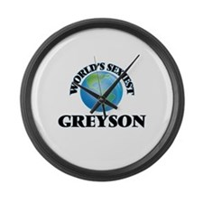 World's Sexiest Greyson Large Wall Clock