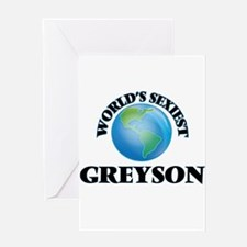 World's Sexiest Greyson Greeting Cards